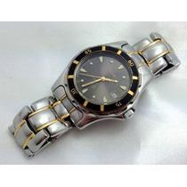 Relógio De Pulso Swiss Bulova Marine Star Folheado A Ouro!!