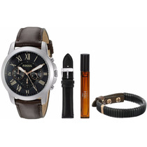 Relógio Fossil Edição Especial Pulseira+perfume Fs5125set
