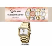 Relogio Champion Passion Dourado Feminino Varios Modelos- Nf