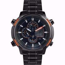 Relógio Orient Mpssa004 Popx Ana-digi Pulseira Aço Preta Nfe