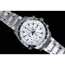 Relógio Casio Edifice Ef-545d Branco Original Ef545 Ef-545