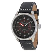 Relogio Citizen Avion Black Leather Mens Watch Aw1361-01e