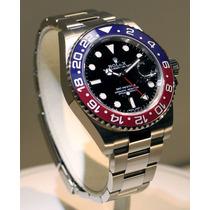 Relógio Automatico Gmt Master 2 Pepsi Oyster Perpetual 12x