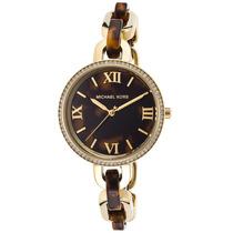 Relógio Luxo Michael Kors Mk4281 Orig Anal Tortoise Ouro!!!