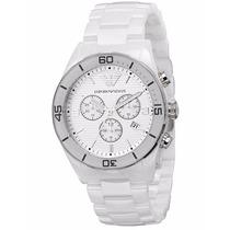 Relógio Emporio Armani Ar1424 Cerâmica Branco 100% Original