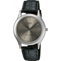 Relógio Casio Mtp-1093 E-8ard Caixa De Aço Pul. Couro S/nr M