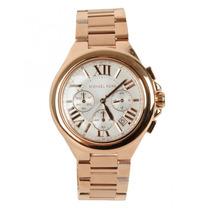 Relógio Luxo Michael Kors Mk5757 Chron Anal Ouro Rosé Imac