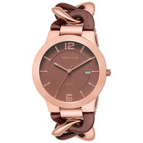 Relógio Feminino Rose Gold E Marrom - 2115uj/4m Technos