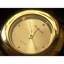 Belíssimo,raro Relógio Vintage Fem.mondaine,banho18k,déc.90