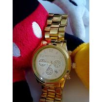 Relógio Michael Kors Exclusivo Dourado Luxo Barato Importado