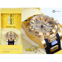 Invicta Excursion 6267 Reserve Banhado A Ouro 18k Original