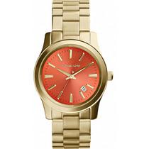 Relógio Michael Kors Mk5915 Dourado Laranja Lançamento 2014