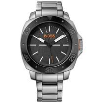Relógio Masculino Hugo Boss C/ Pulseira Em Aço Prata 1513070