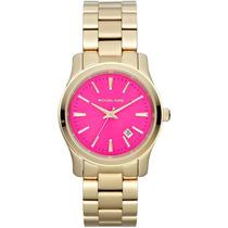 Relógio Michael Kors Mk5801 Dourado E Rosa Lançamento 2014