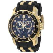 Relogio Invicta Scuba Pro Diver 6981 - Banhado A Ouro 18 K