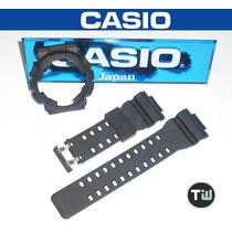 Kit Capa/pulseira Casio G-shock Ga-110 Ga-100 Gd-100 Preto