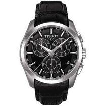 Relógio Tissot Couturier Preto Pulseira De Couro 12xs/juros