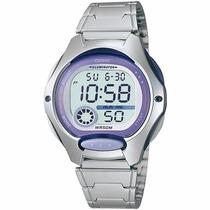 Relógio Casio Feminino Lw-200 Cronômetro Alarme Wr-50m Roxo