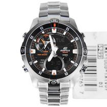 Relógio Casio Náutica Ema-100d Preto Novo Aço Ema-100 Ema100