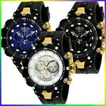 Relógio Invicta 1521 1522 1523 Venom 2 Subaqua Misto Ouro !