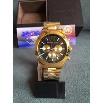 Relogio Michael Kors Mk8246 Layton Dourado Completo C/caixa