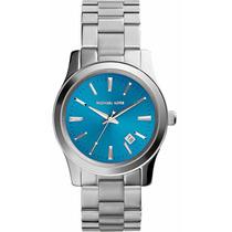 Relógio Michael Kors Mk5914 Prata E Azul Lindo Frete Grátis.