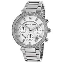 Relógio Michael Kors Mk5353 Prata Com Cristal Caixa E Manual