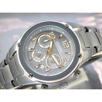Relógio Orient Calendario Preto Pvd Plaque Ouro Mpssc004