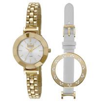 Relógio Dumont Feminino Dourado Du2035lnd - Troca Pulseira