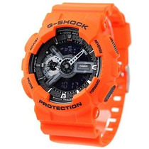 Relógio Casio G-shock Ga110mr4a Laranja Original Na Lata