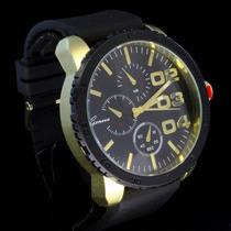 Relógio Hip Hop Dourado/preto S Invicta Nautica