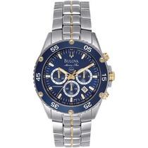 Relógio Bulova Marine Star Wb30686 Azul 98h37 Original