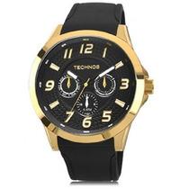Relógio Masculino Technos Sports Racer 6p29aht/8p Dourado