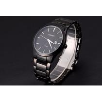 Relógio Masculino Currem Black De Luxo Importado Barato