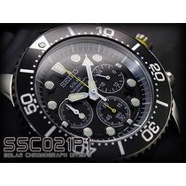 Seiko Solar Diver Ssc021 200mts Chronograph- Frete Grátis!