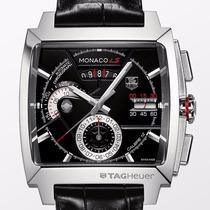 Relógio Tag Calibre12 Monaco Ls Pulseira Couro Frete Grátis