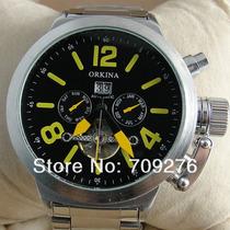 Relógio Automático Orkina Gigante Aço