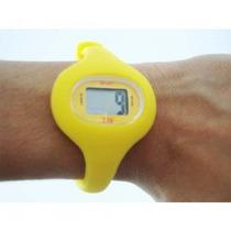 Relógio Esportivo Silicone Cores: Amarelo, Laranja, Rosa