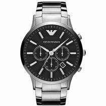 Relógio Emporio Armani Ar2460 Prata E Preto -importado