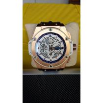 Relógio Hublo Miami Azul / Branco Novo Na Caixa