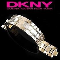 Relógio De Pulso Feminino Dourado Marca: Dkny(donna Karan)