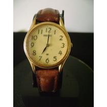 Relógio De Pulso Feminino Em Plaque De Ouro Seiko