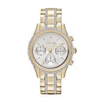 Relógio Feminino Dourado E Prata - Gny8707/z Dkny
