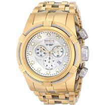 Relógio Invicta Bolt Zeus 12743 Gold Swiss Original Na Caixa