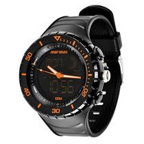 Relógio Mormaii Y11556/8l Preto Pulseira Borracha Alarme Nfe