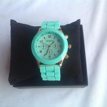 Relógio Feminino Marca Geneva Verde Arremate Leilão
