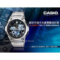 Relogio Casio Aq-190 World Time Multiponteiro Novo/original