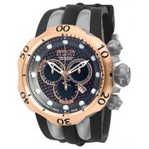 Relógio Invicta Venom Reserve 14518 Prata/rosê Sedex Grátis.