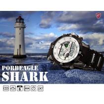 Relógio Emborrachado Sport Quatz Watch Lcd Digital Masc