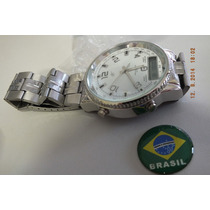 Relogio Potenzia Ana Digi Aço-brasil Relógios